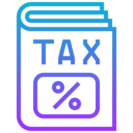 blue graphic of TAX book