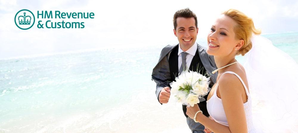 HM revenue and customs weddings advice
