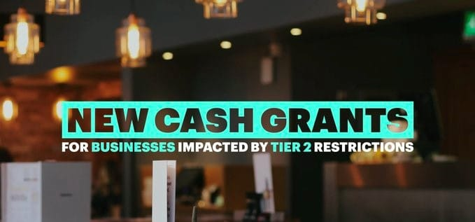 New Cash Grants for businesses impacted by tier 2 restrictions